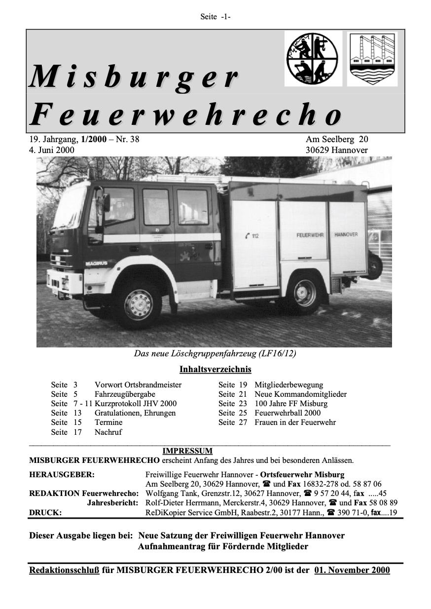 Misburger Feuerwehrecho 2000