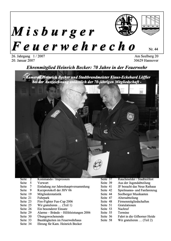 Misburger Feuerwehrecho 2007