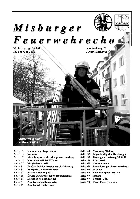 Misburger Feuerwehrecho 2011