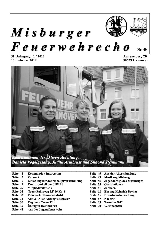 Misburger Feuerwehrecho 2012
