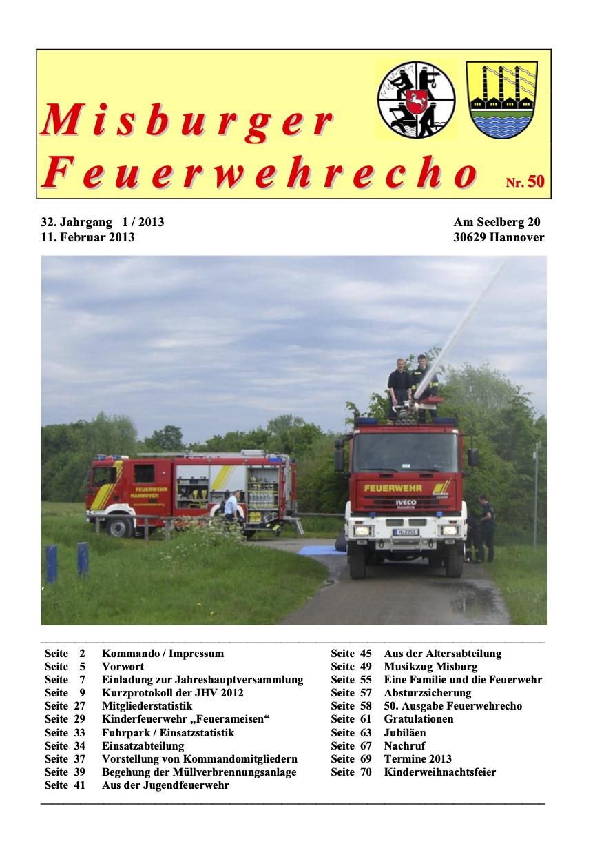 Misburger Feuerwehrecho 2013