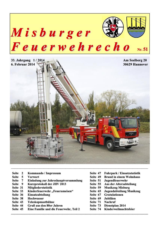 Misburger Feuerwehrecho 2014