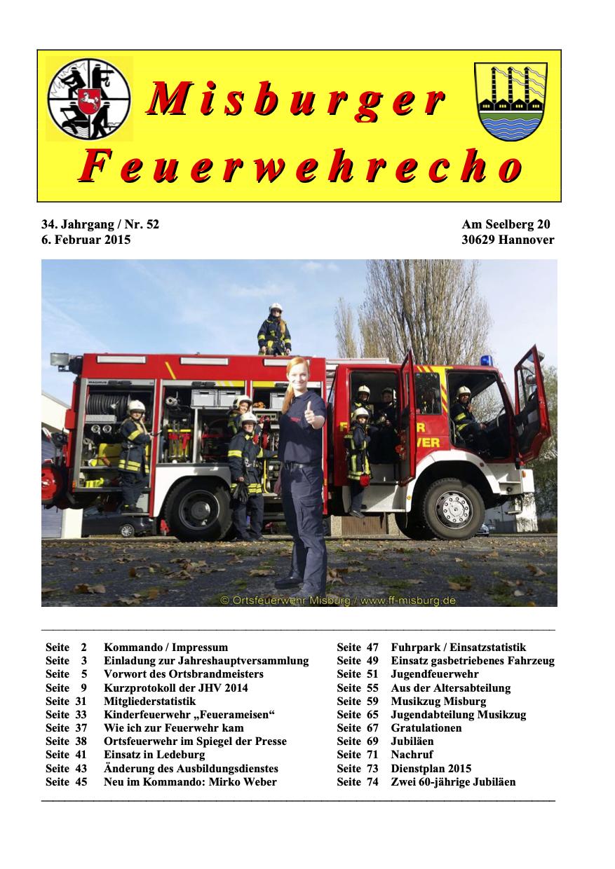 Misburger Feuerwehrecho 2015