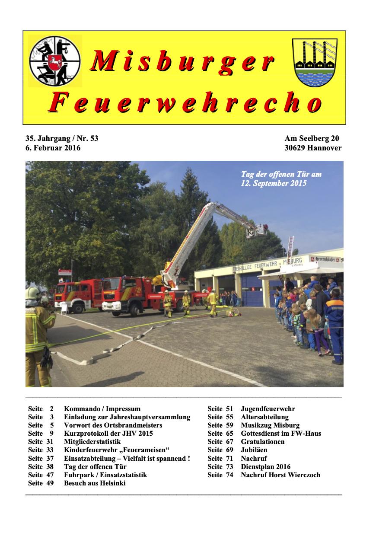Misburger Feuerwehrecho 2016