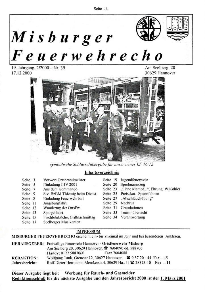 Misburger Feuerwehrecho 2000 II