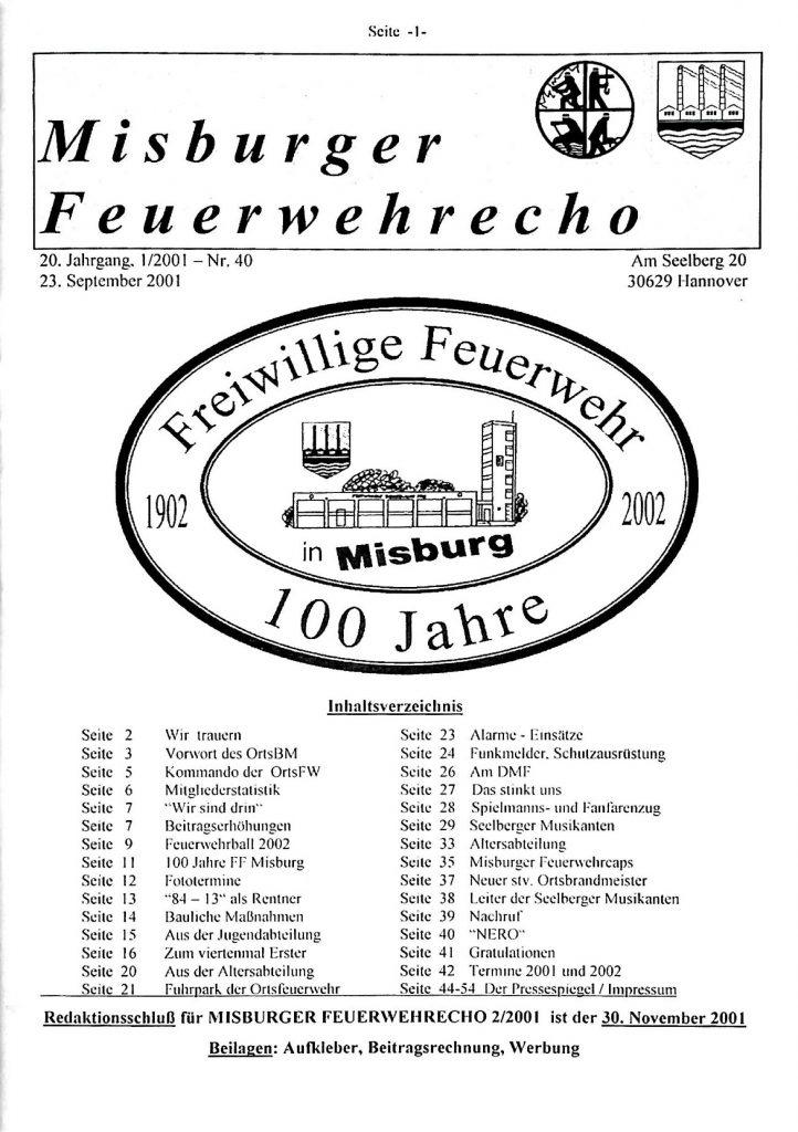 Misburger Feuerwehrecho 2001 I